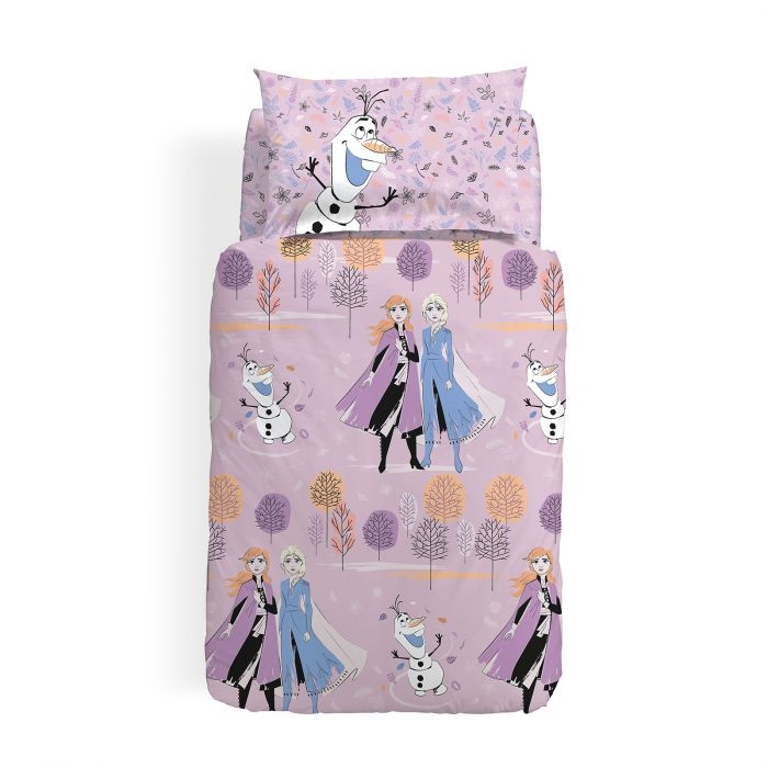 Completo Copripiumino Disney Caleffi Frozen Mythic In Cotone Biancheria Per La Casa